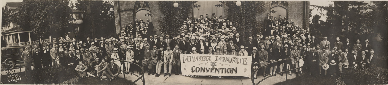 The 1928 Luther League convention, held at St. John's Evangelical Lutheran Church in Waterloo, Ontario.