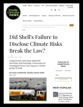 Background information - Did Shell's failure to disclose climate risks break the law?